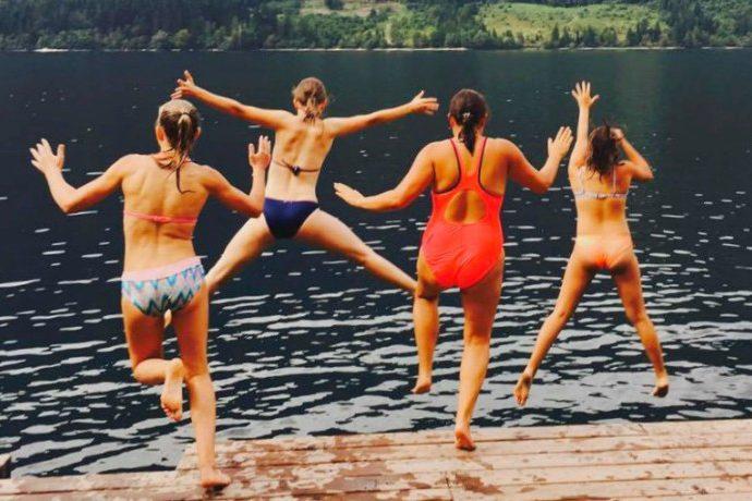 Explorer Camps Lake Bohinj Senior Campers jetty jump