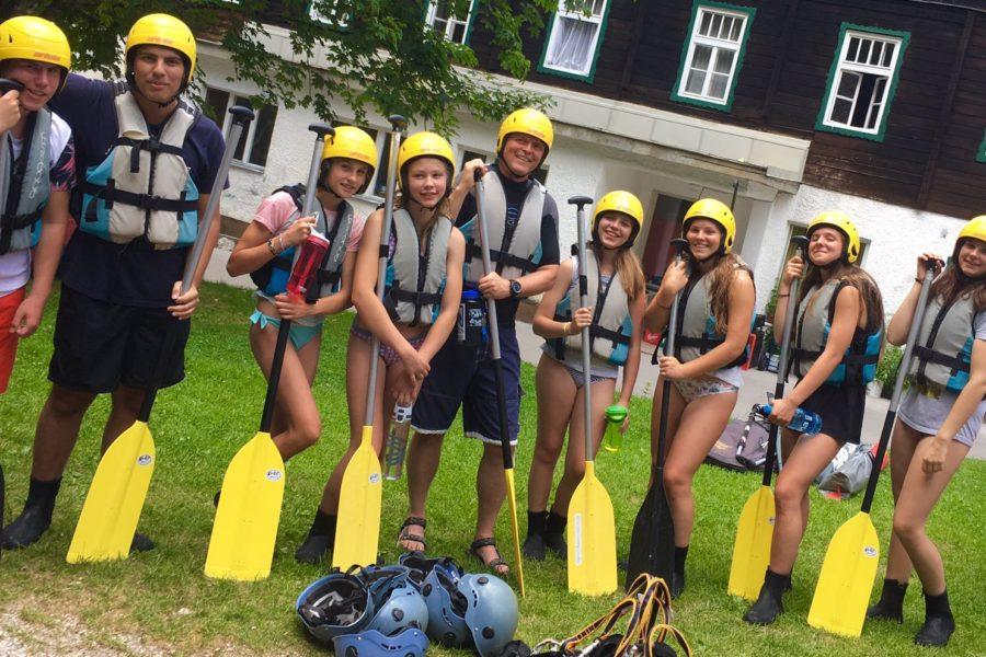 Explorer Camp Lake Bohinj Senior Campers rafting