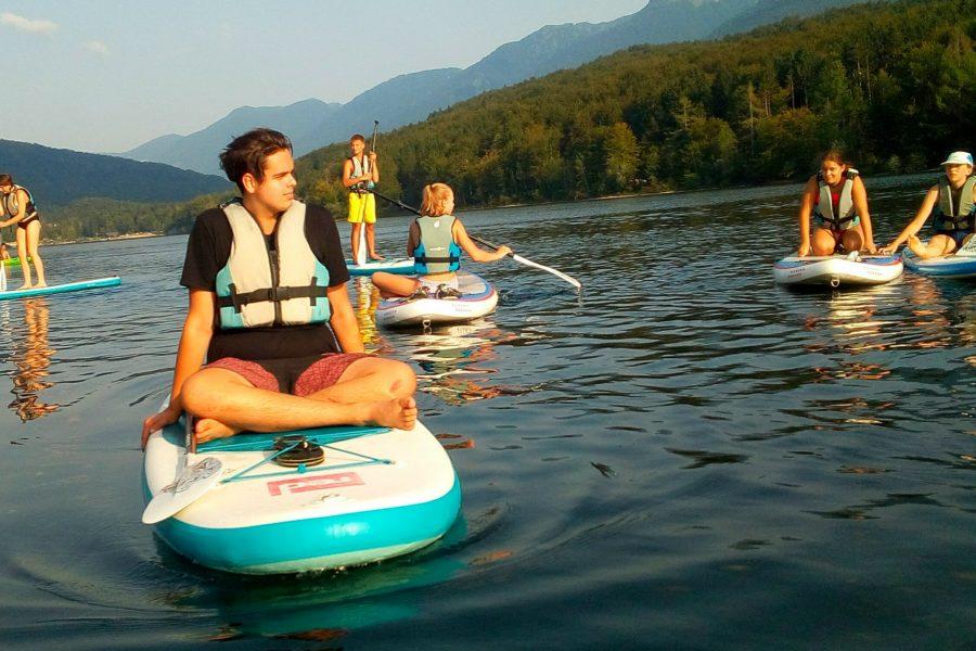 Explorer Camp Lake Bohinj Senior Campers SUPing